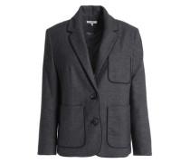 Mélange wool-blend jacket