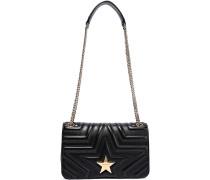 Embellished Quilted Faux Leather Shoulder Bag