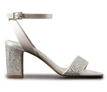 Leticia Sandalen aus Satin mit Swarovski-kristallverzierung