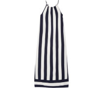 Capistan striped voile maxi dress