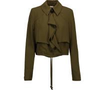 Cropped Cady Jacket Armeegrün