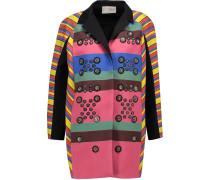 Hendrix Embellished Striped Crepe Coat Mehrfarbig