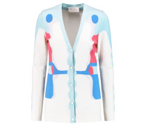 Marble Instarsia-knit Cotton, Cashmere And Silk-blend Cardigan Mehrfarbig