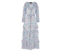 Izzie Ruffle-trimmed Floral-print Silk-georgette Maxi Dress