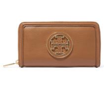 Amanda Textured-leather Wallet Braun