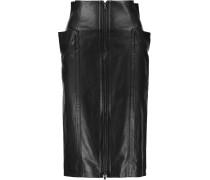 Leather Skirt Schwarz