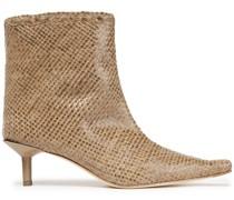 Shelly Ankle Boots aus Geflochtenem Leder