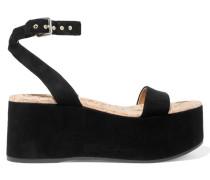 Henley Suede Platform Sandals Schwarz