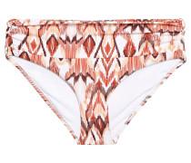 Bel Air Ruched Printed Mid-rise Bikini Briefs