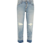 The Fling Distressed Boyfriend Jeans Heller Denim