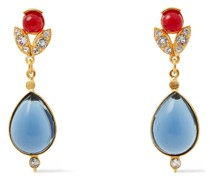 24 Kt. Verete Ohrringe mit Kristallen und Steinen