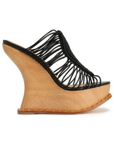 Woven wedge sandals