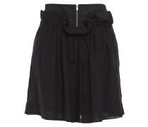Woman Gathered Wool-blend Twill Shorts Black