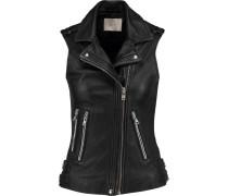 Franca Leather Vest Schwarz