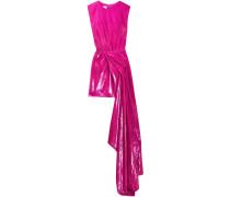 Draped Velvet And Lamé Mini Dress