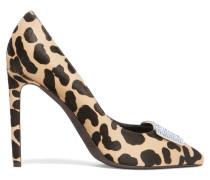 Cavlin Embellished Leopard-print Calf Hair Pumps Leoparden-Print