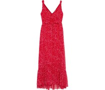Misha Ruffle-trimmed Printed Chiffon Maxi Dress