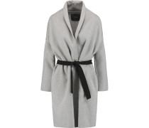 Wool-blend Coat Grau
