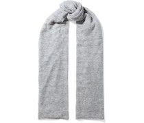 Mélange Brushed Knitted Scarf