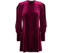 Open-back Velvet Mini Dress