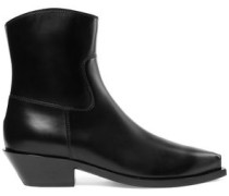 Gaucho leather ankle boots