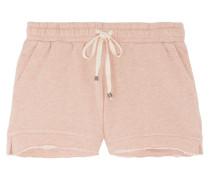 Frayed Cotton Shorts Puder