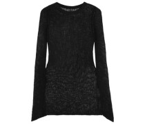 Open-knit cashmere sweater