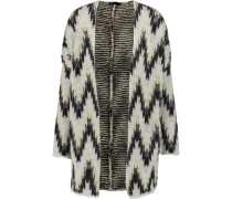 Reversible Intarsia-knit Cardigan Wollweiß