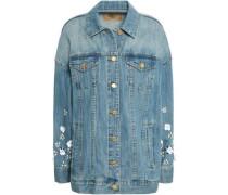 Embellished Denim Jacket Mid Denim