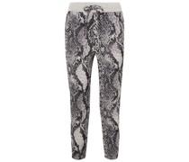 Strike Cropped Track Pants aus Jacquard aus Einer Baumwollmischung mit Schlangenmuster