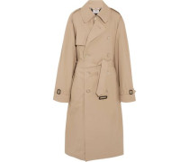 + Mackintosh oversized cotton trench coat