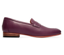 Leather Loafers Bordeaux
