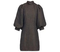 Gathered Tweed Mini Dress