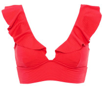 Button-embellished Bandeau Bikini Top