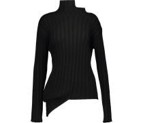 Asymmetric Merino-wool Sweater Schwarz