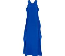 Olympia Ruffled Silk Maxi Dress Königsblau