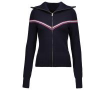 Addy Chevron Wool-blend Jacket Navy