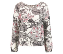 Printed Wool And Cashmere-blend Sweater Elfenbein