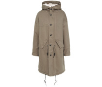 Marea Faux Shearling-lined Cotton-twill Hooded Parka