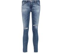 Low-rise Distressed Skinny Jeans Heller Denim
