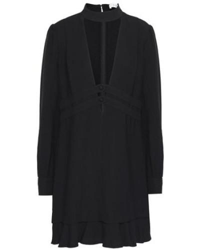 Faye Cutout Stretch-crepe Mini Dress Black Size 12