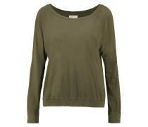 The Letterman Cotton Sweatshirt Armeegrün