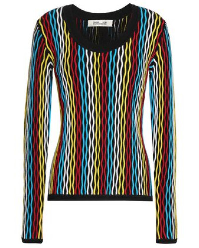 Merino Wool-blend Jacquard Sweater Multicolor