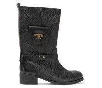 Leona textured-leather boots