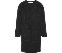 Shirley Embellished Silk Dress Schwarz