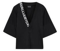 Oversized-t-shirt aus Baumwoll-jersey mit Monogrammdetail