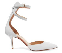 D'Orsay leather pumps