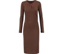 Del Wool Dress Schokoladenbraun