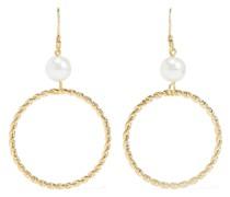 22-karat -plated Faux Pearl Earrings