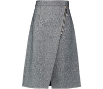 Panna Cotton-bouclé Wrap Skirt Grau